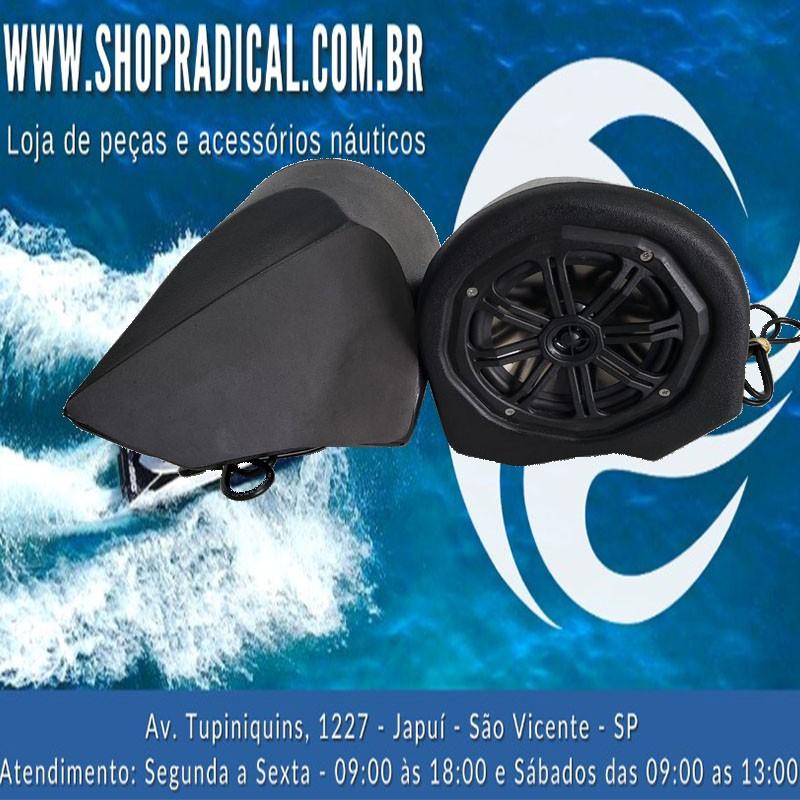 KIT DE SOM ST3 BLUETOOTH MS AUDIO PRETO   - Radical Peças - Peças para Jet Ski