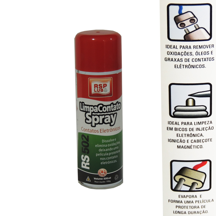 Limpa Contato Eletrônico  Spray RSP Lub 320Ml+  - Radical Peças - Peças para Jet Ski