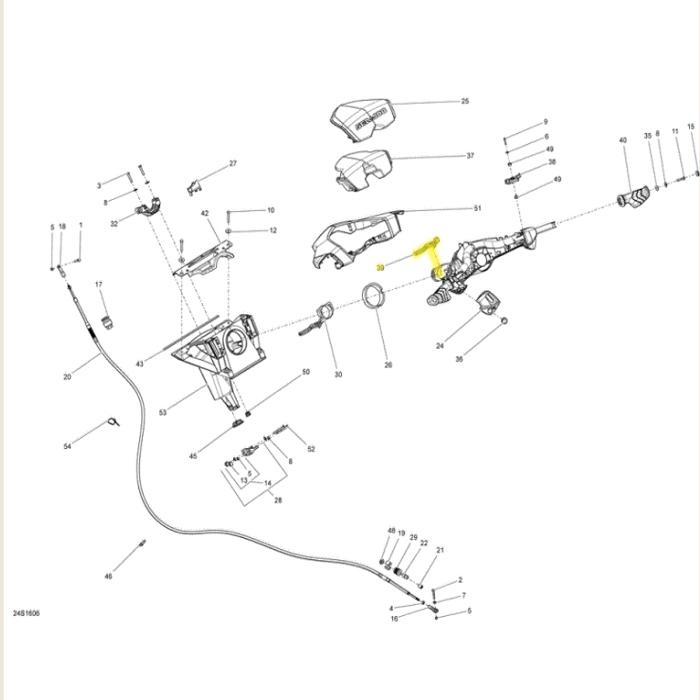 Manopla da Alavanca do Reverso para Jet Ski Sea Doo*  - Radical Peças - Peças para Jet Ski