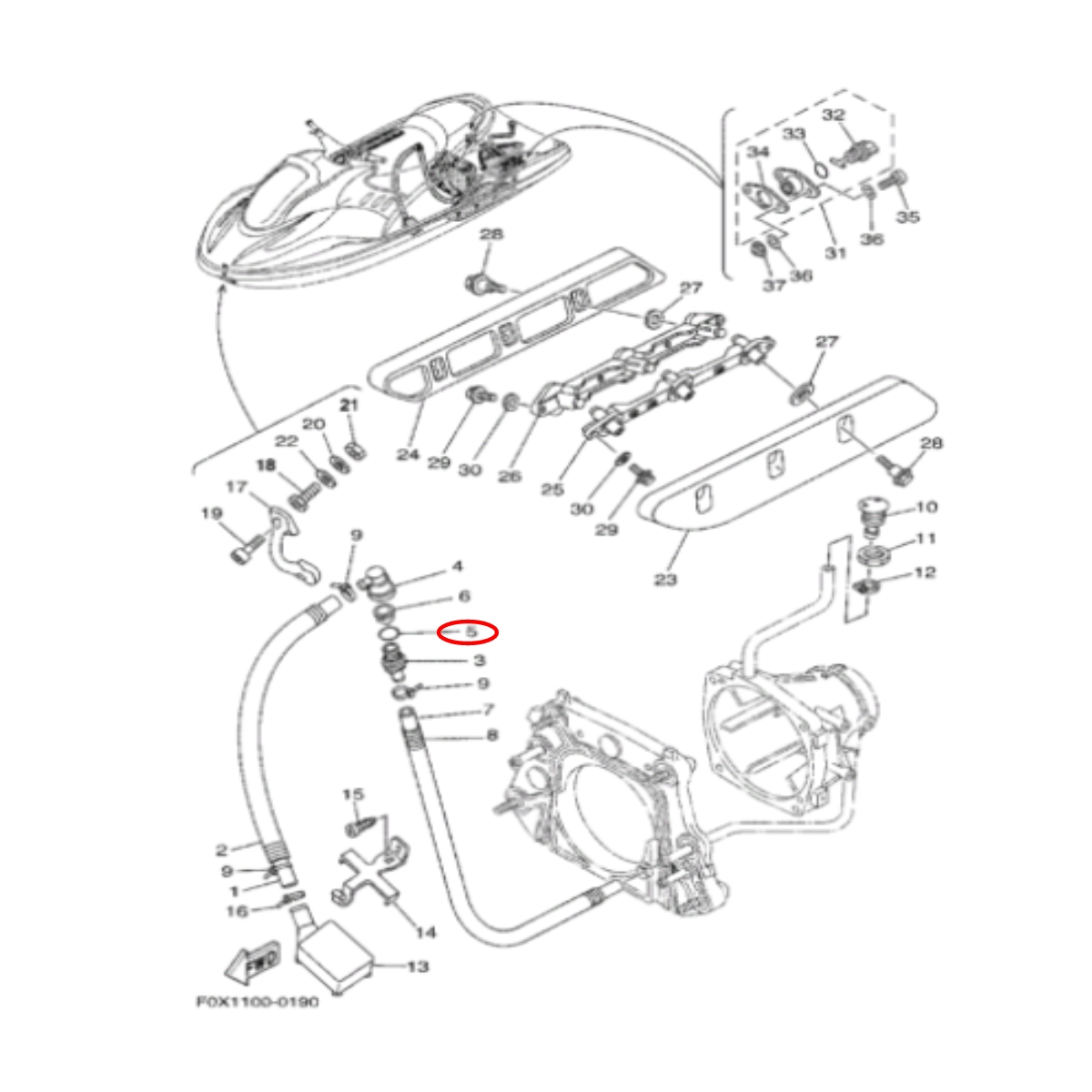 Oring Jet Ski Yamaha  - Radical Peças - Peças para Jet Ski
