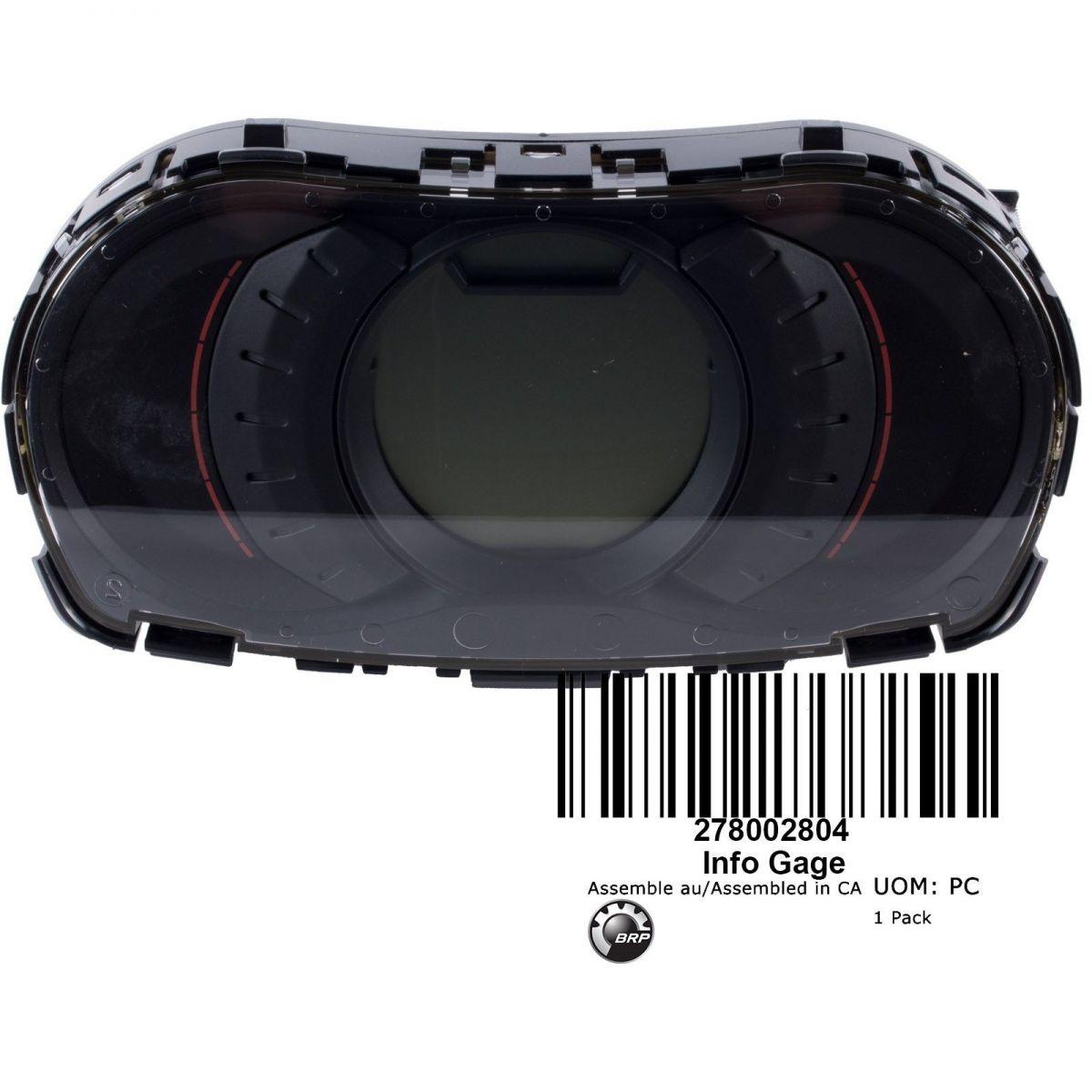 Painel Digital para Jet Ski Sea Doo GTS 130 2011/2012  278002804  - Radical Peças - Peças para Jet Ski
