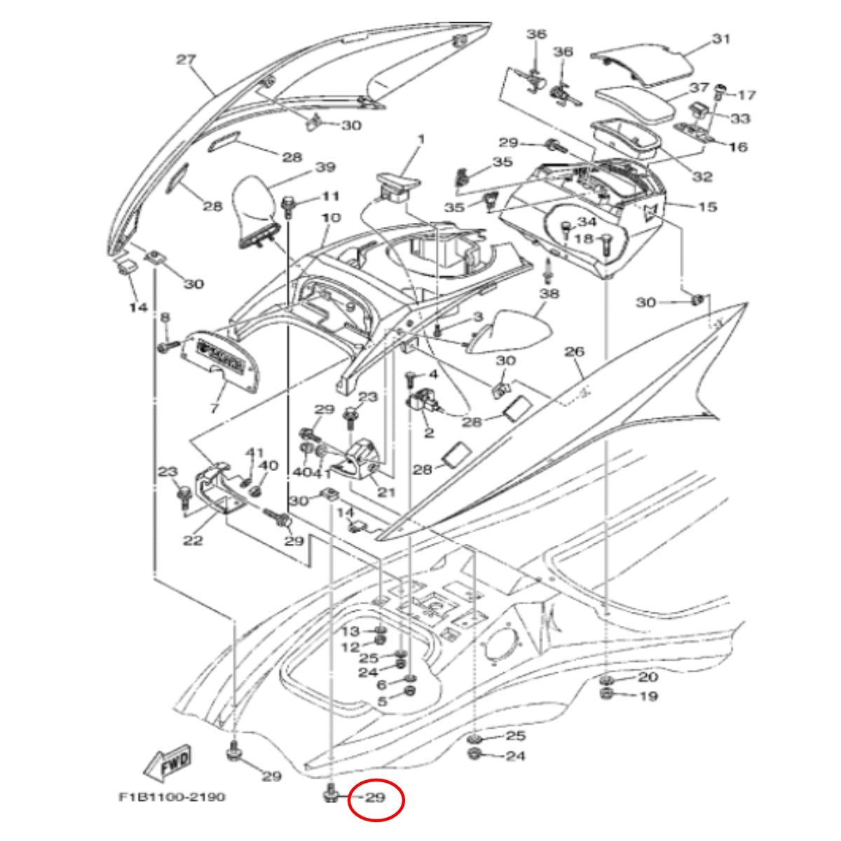 Parafuso para Jet Ski Yamaha Original  - Radical Peças - Peças para Jet Ski