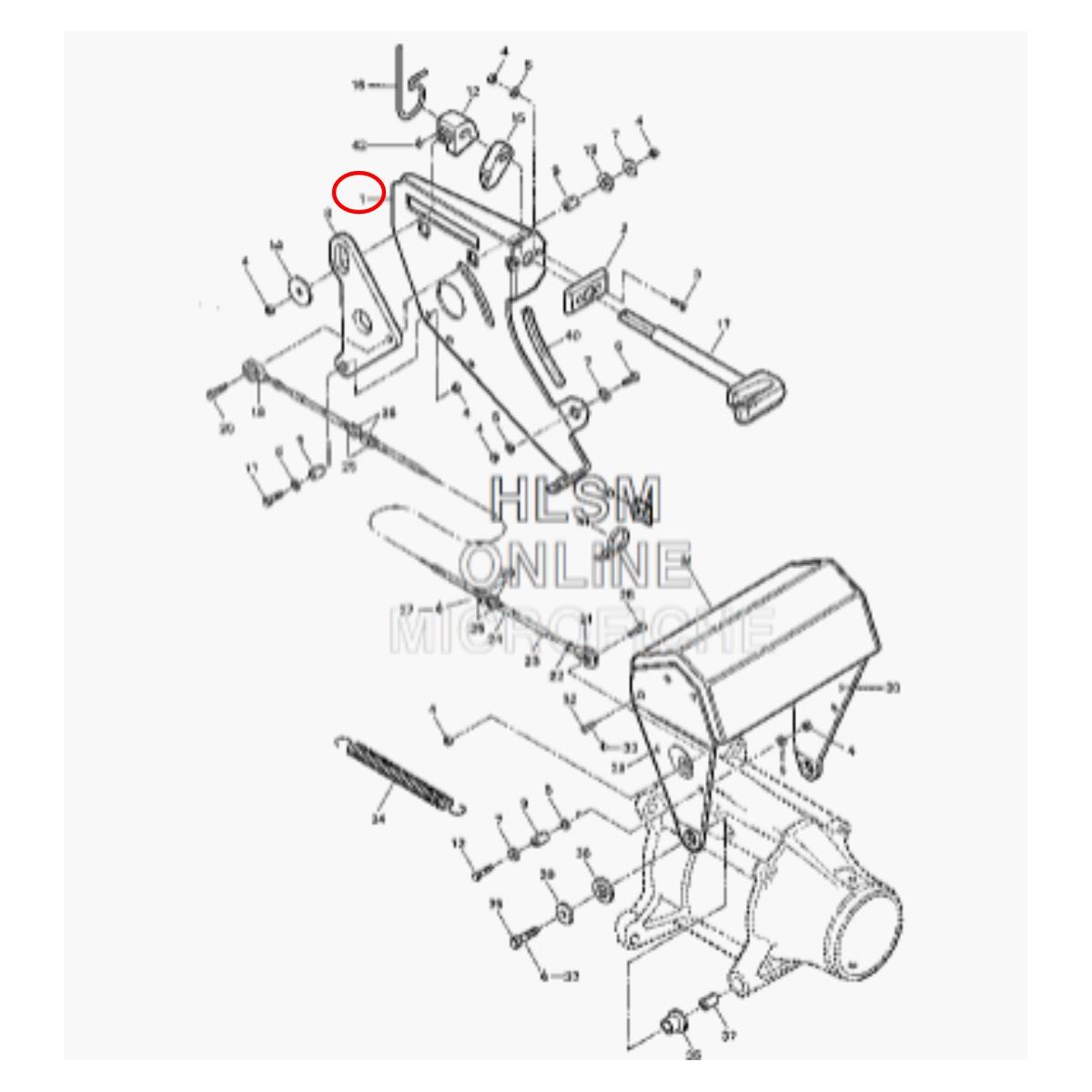 Placa Fixação Alavanca Ré para Jet Ski Sea Doo GT 91  - Radical Peças - Peças para Jet Ski
