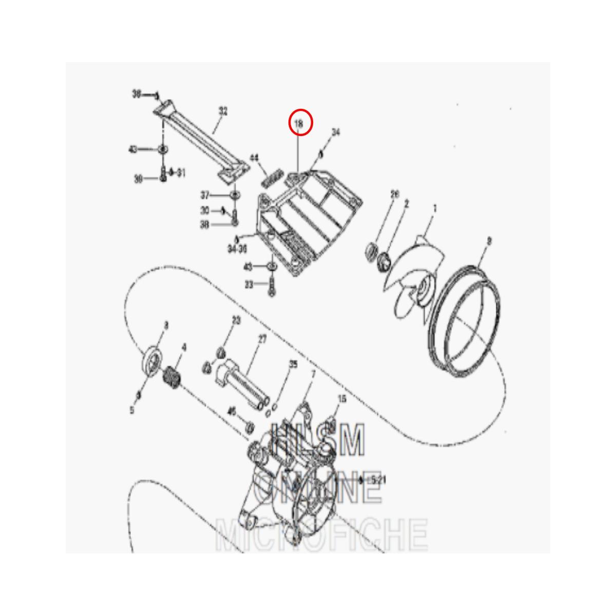 Placa Turbina Jet Ski Sea Doo XP 97  - Radical Peças - Peças para Jet Ski