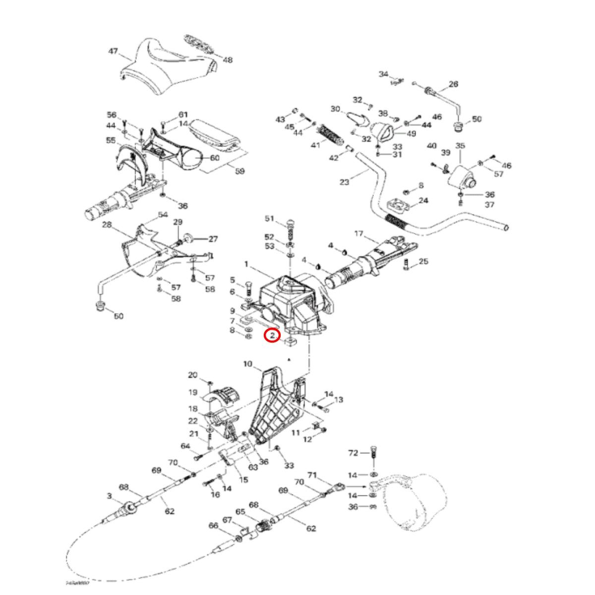 Porca Jet Ski Sea Doo 4 tempos  - Radical Peças - Peças para Jet Ski