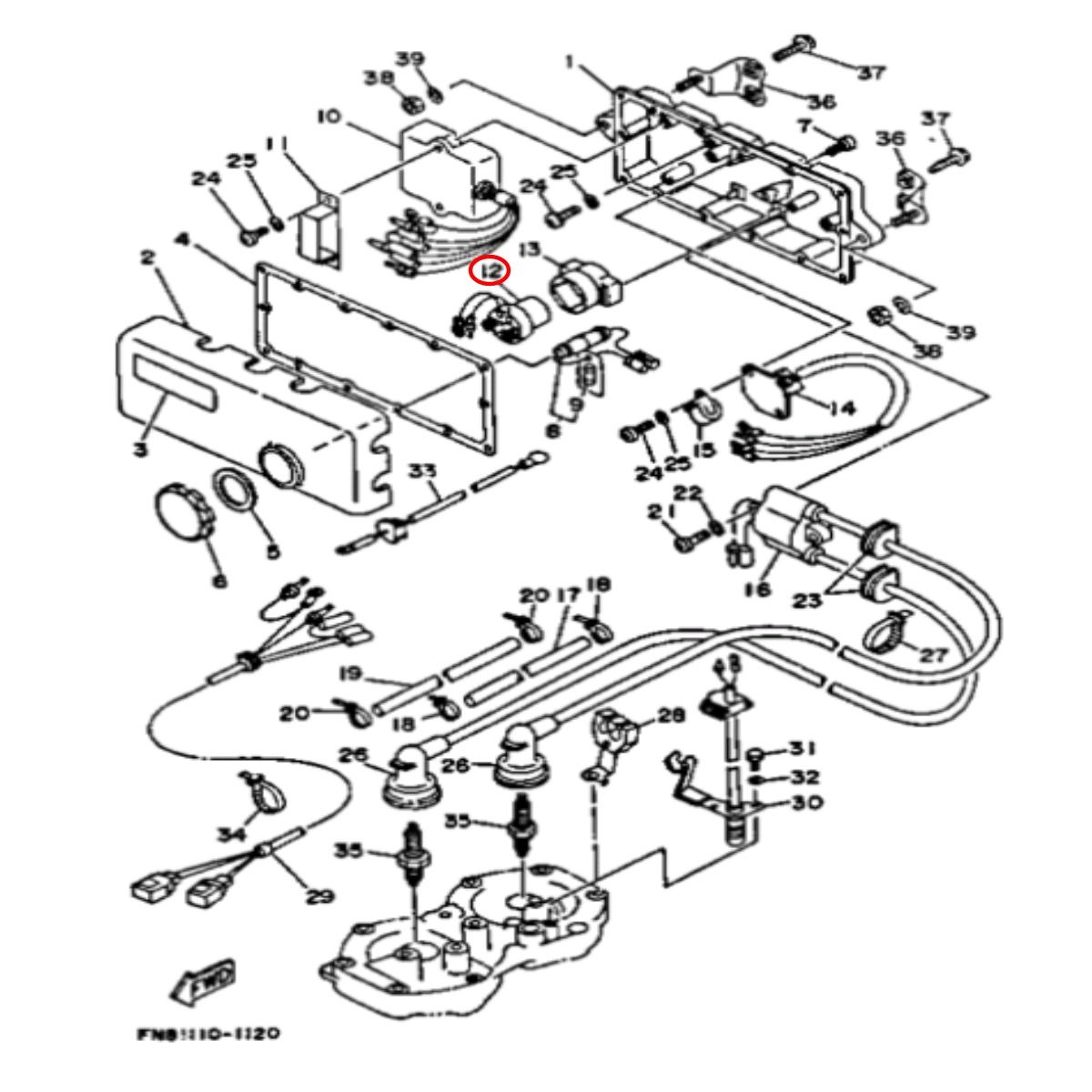 Rele de Partida para Jet Ski Yamaha Nacional  - Radical Peças - Peças para Jet Ski