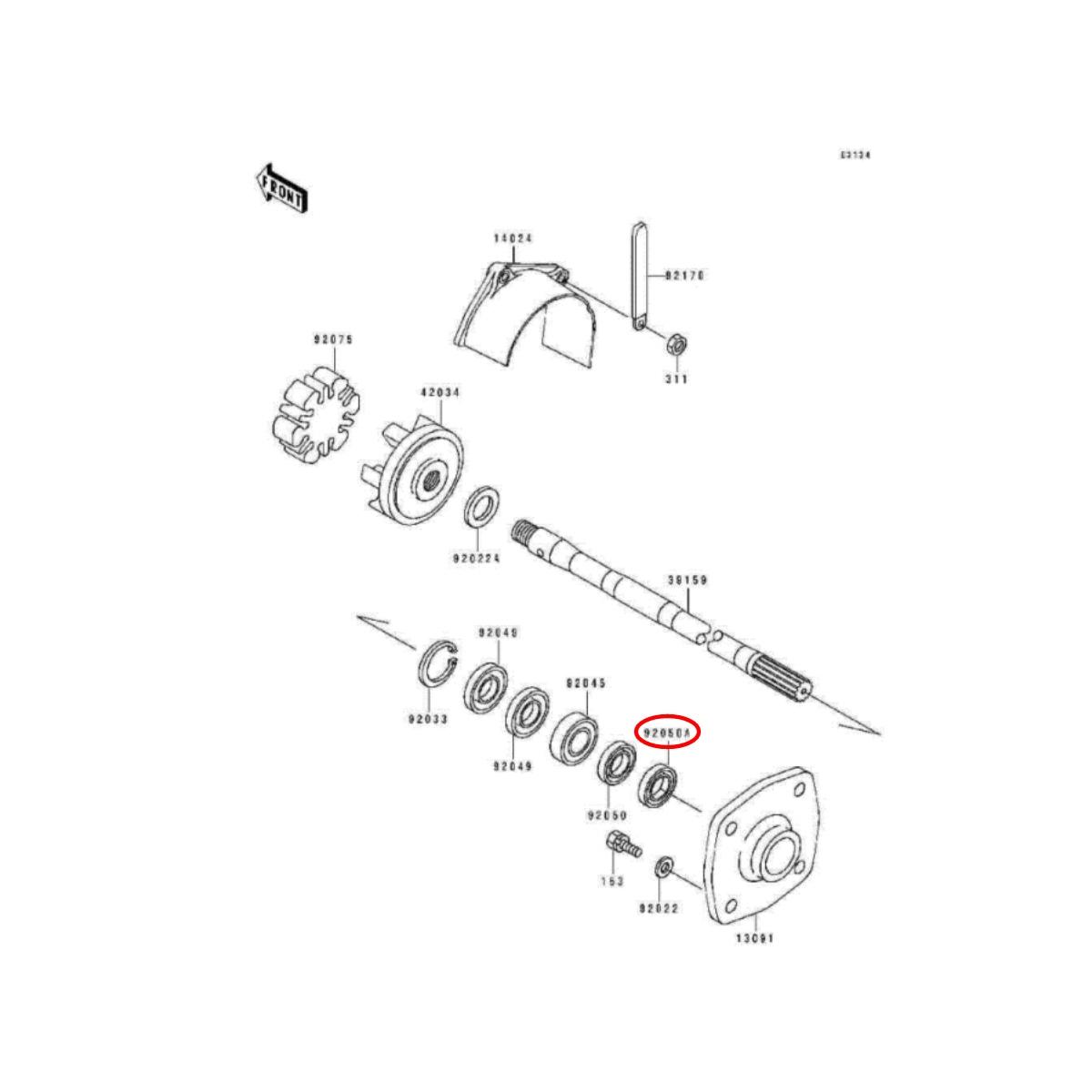 Retentor Casa Rolamento Jet Ski Kawasaki 36X19(X7  - Radical Peças - Peças para Jet Ski