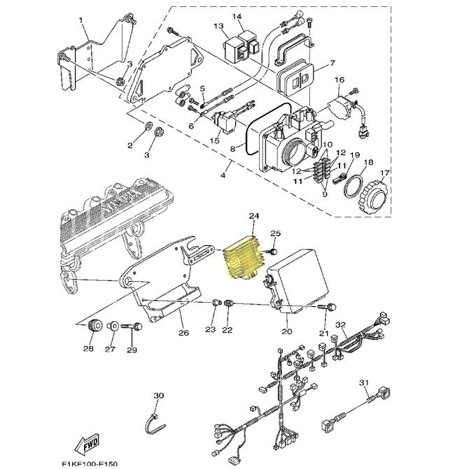 Retificador de Voltagem Yamaha Importado+  - Radical Peças - Peças para Jet Ski