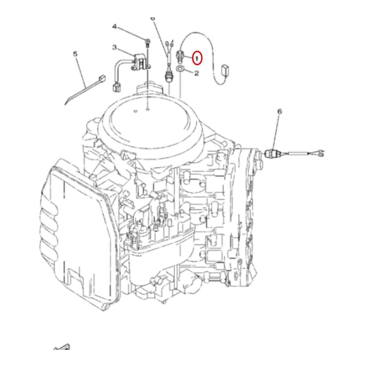 Sensor de Temperatura para Jet Ski Yamaha VX 110 usado  - Radical Peças - Peças para Jet Ski