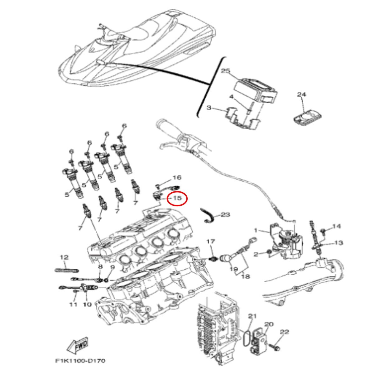 Sensor Posição para Jet Ski Yamaha VX 110  - Radical Peças - Peças para Jet Ski