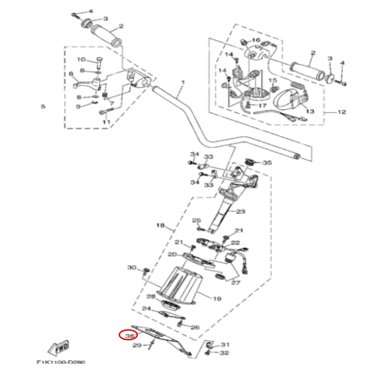 Suporte da direção para Jet Ski Yamaha  - Radical Peças - Peças para Jet Ski