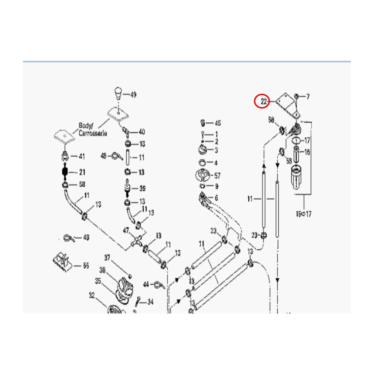 Suporte do Filtro de Gasolina para Jet Ski Sea Doo sp/ spx/ xp 96  - Radical Peças - Peças para Jet Ski