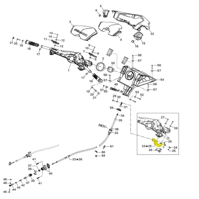 Suporte Inferior da Direção para Jet ski Sea Doo*   - Radical Peças - Peças para Jet Ski