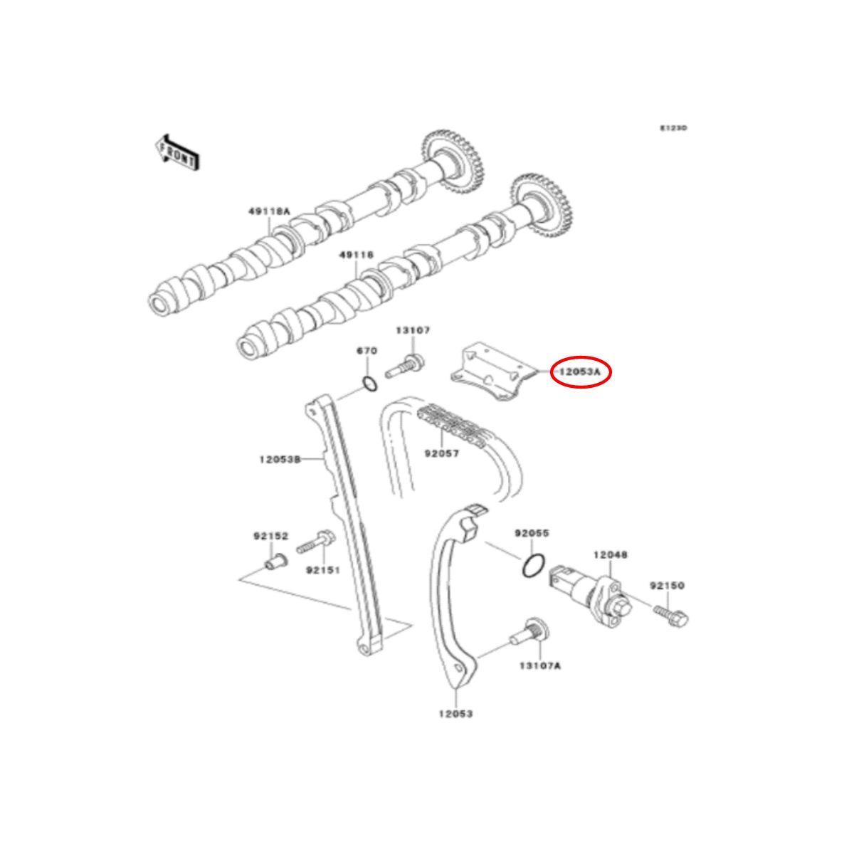 Suporte Tensionador Jet Ski Kawasaki  - Radical Peças - Peças para Jet Ski