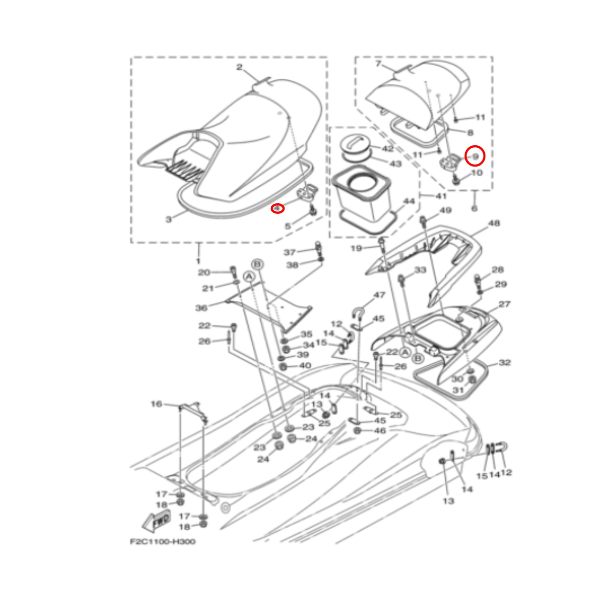 Trava Banco para Jet Ski Yamaha Nacional  - Radical Peças - Peças para Jet Ski