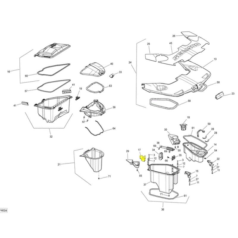 Trava da Plataforma para Jet Ski Sea Doo IS LH (Esquerdo) +  - Radical Peças - Peças para Jet Ski