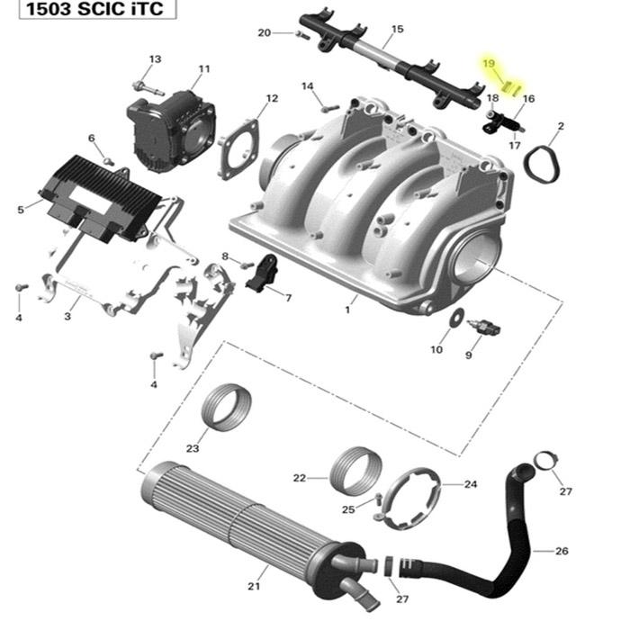 Trava do Bico Injetor para Jet Ski Sea Doo GTI 130 Original  - Radical Peças - Peças para Jet Ski