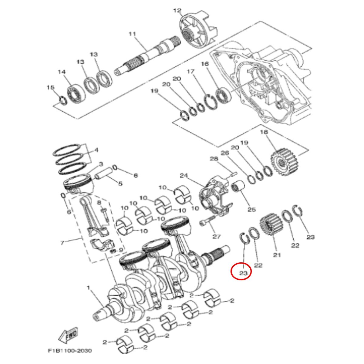 Válvula Admissão para Jet Ski Yamaha VX WSM (4) 1 Pingo  - Radical Peças - Peças para Jet Ski