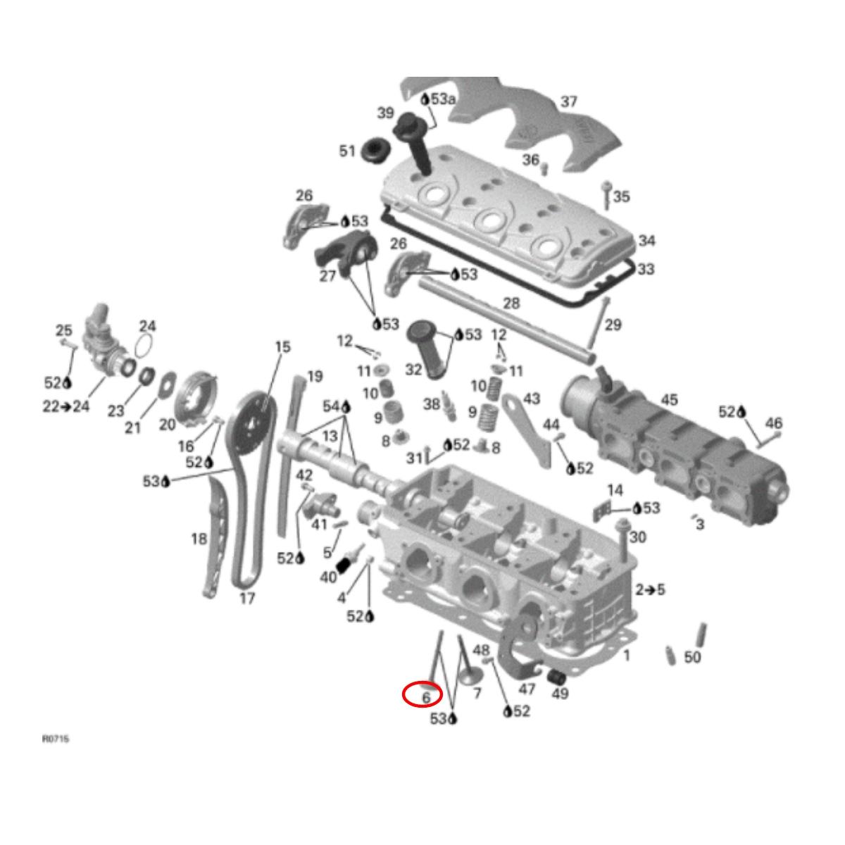 Válvula Escape para Jet Ski Sea Doo 4 TEC  - Radical Peças - Peças para Jet Ski