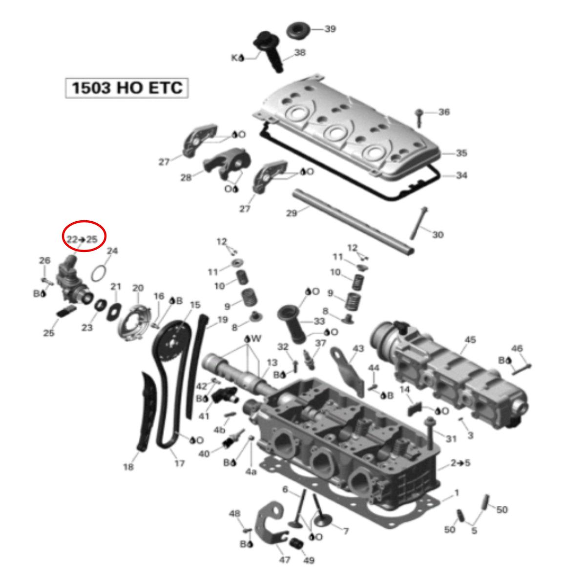 Válvula Pressurização para Jet Ski Sea Doo 4 Tempos  - Radical Peças - Peças para Jet Ski