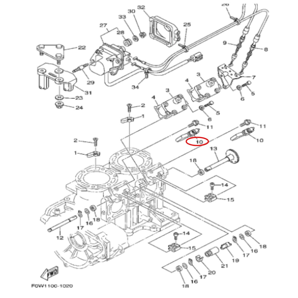 Valvula YPVS Yamaha Importado  - Radical Peças - Peças para Jet Ski