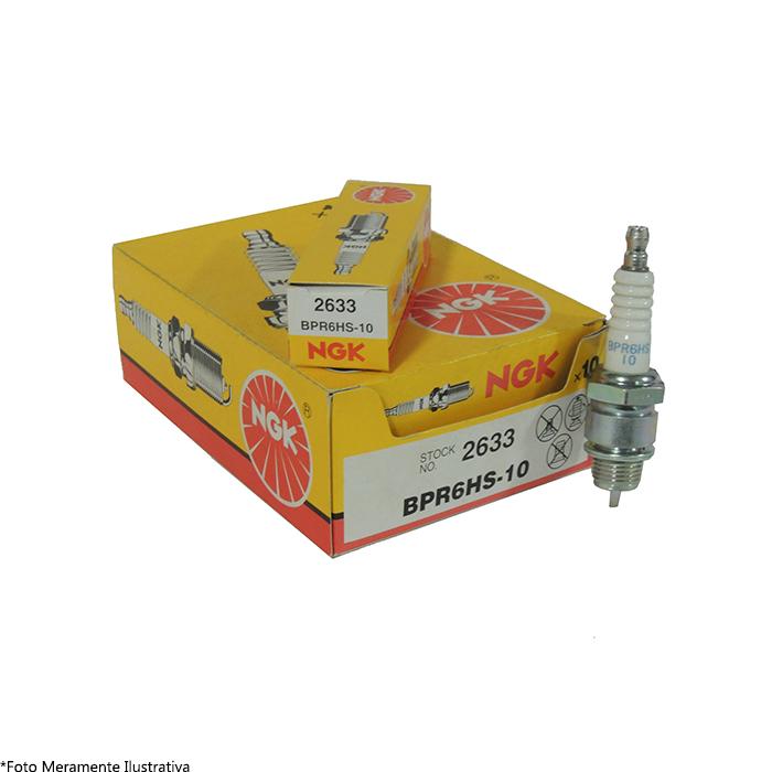 Vela BPR6HS-10 para Motor de Popa Mercury NGK (Caixa c/ 10 Unidades)  - Radical Peças - Peças para Jet Ski
