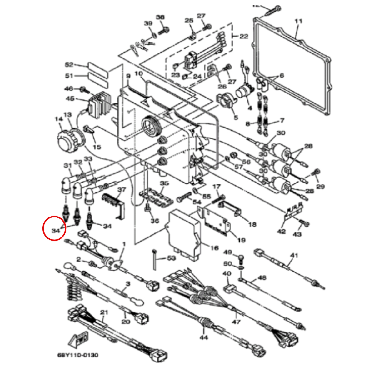 Vela BR8ES-11 para Jet Ski Yamaha GP1200R/1300R NGK (Unitária)  - Radical Peças - Peças para Jet Ski