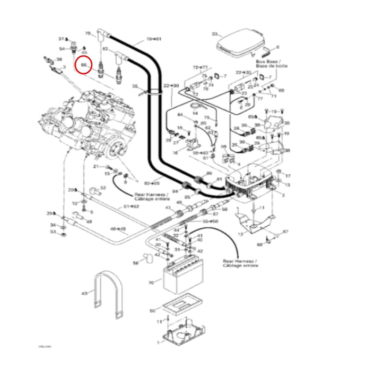 Vela ZFR4F-11 para Jet Ski Sea Doo 950 cc DI NGK (Unitária)  - Radical Peças - Peças para Jet Ski