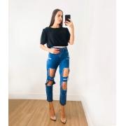 Calça Mom Jeans Jade Escura