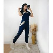 Conjunto Cheerleader Azul Marinho