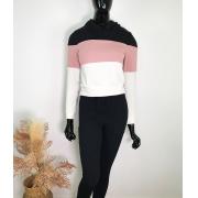 Conjunto Cotton Tricolor Preto