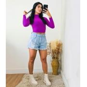 Cropped Serena Roxo