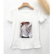 T-Shirt Aplicações Menina Off