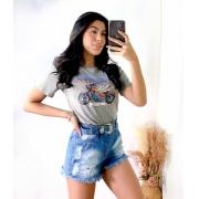T-Shirt Asas Cinza Mescla
