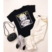 T-Shirt Move To The Music Preta