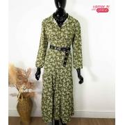 Vestido Floral Verde