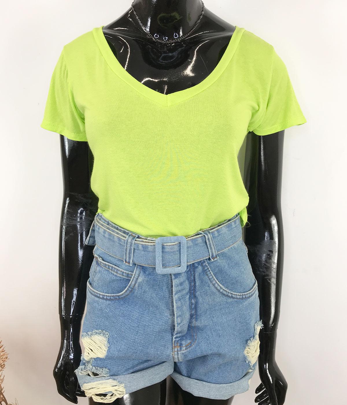 Blusa Podrinha Verde Neon