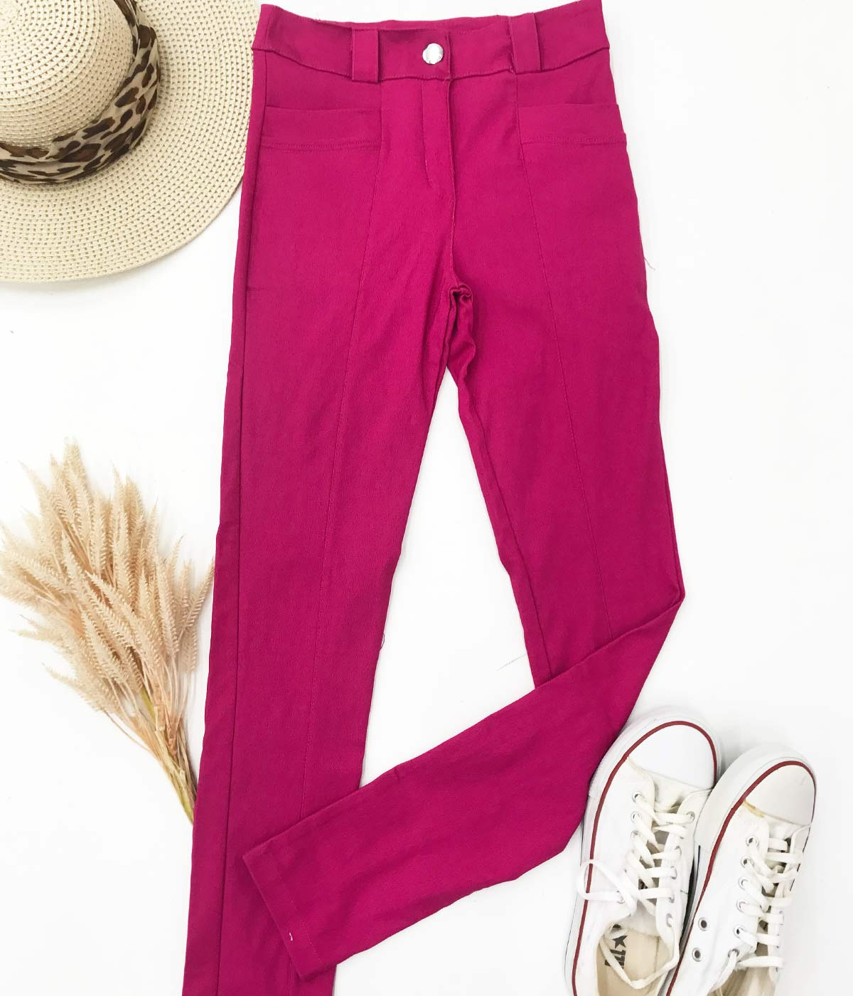 Calça Bengaline Rosa Escuro