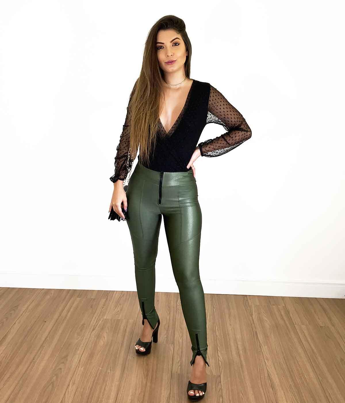 Calça Diana Verde Militar