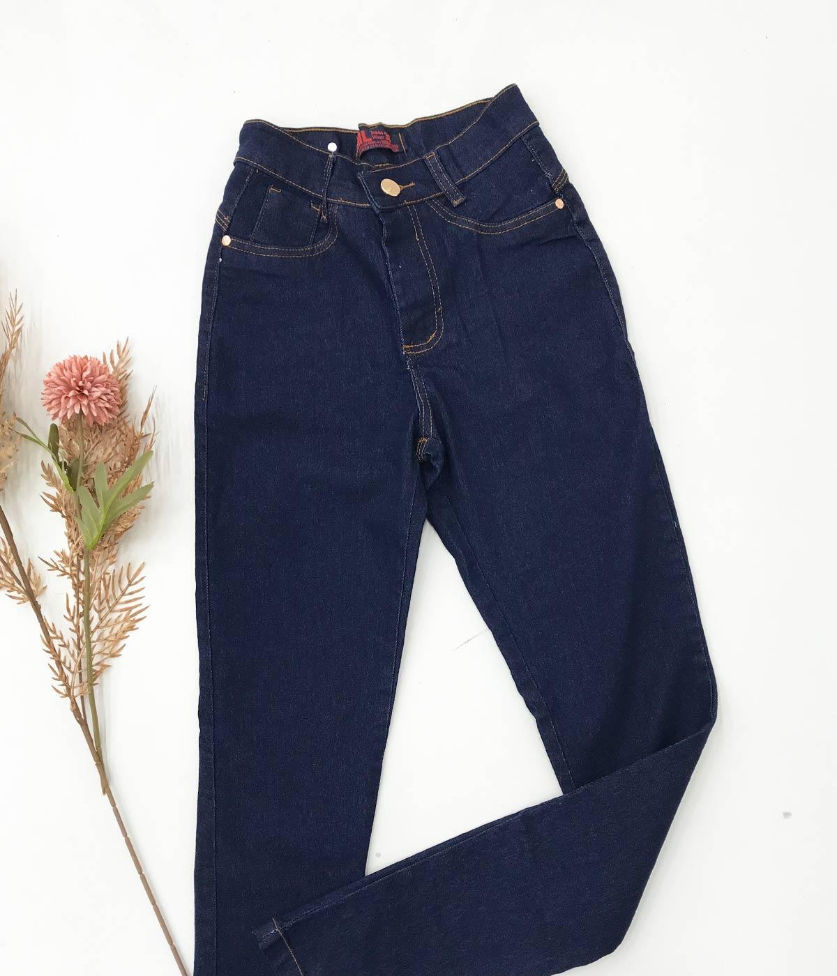 Calça Jeans Básica Escura