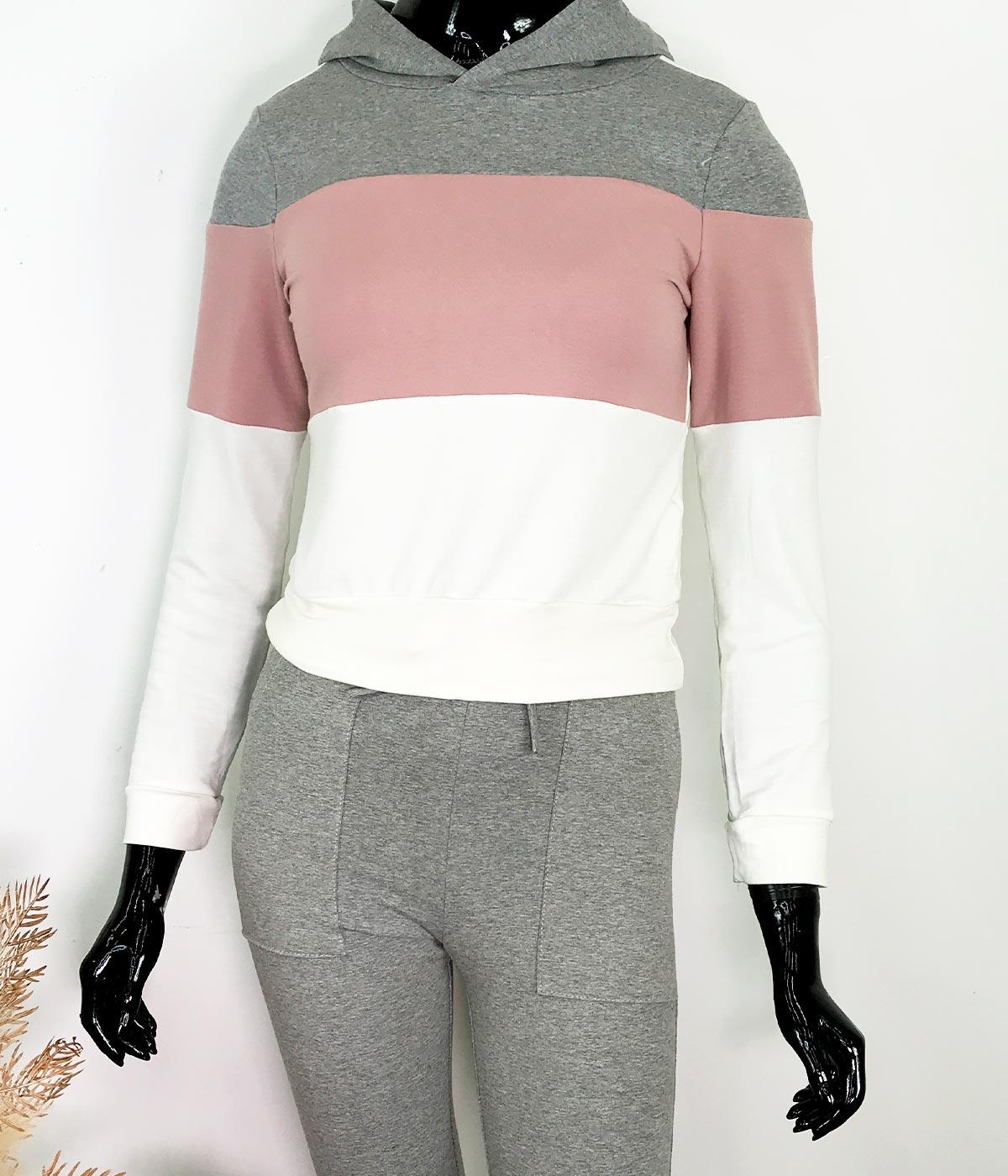 Conjunto Cotton Tricolor Cinza