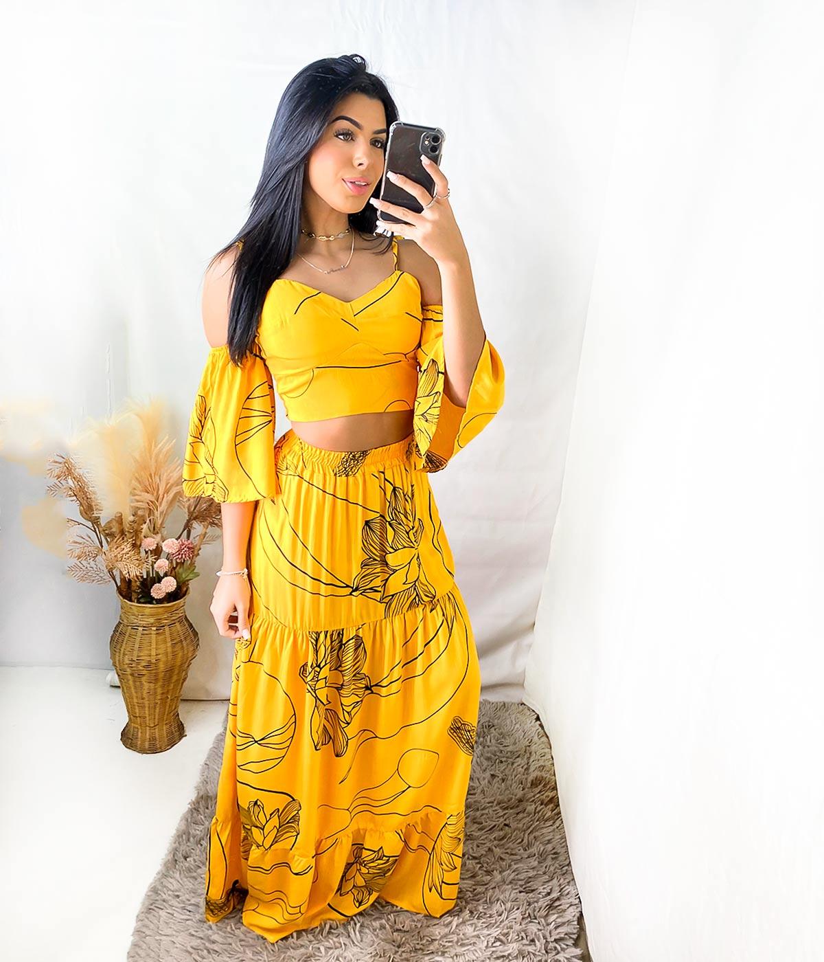 Conjunto Jéssica Amarelo