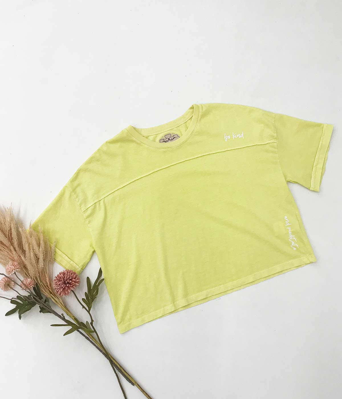 Cropped Be Kind Amarelo