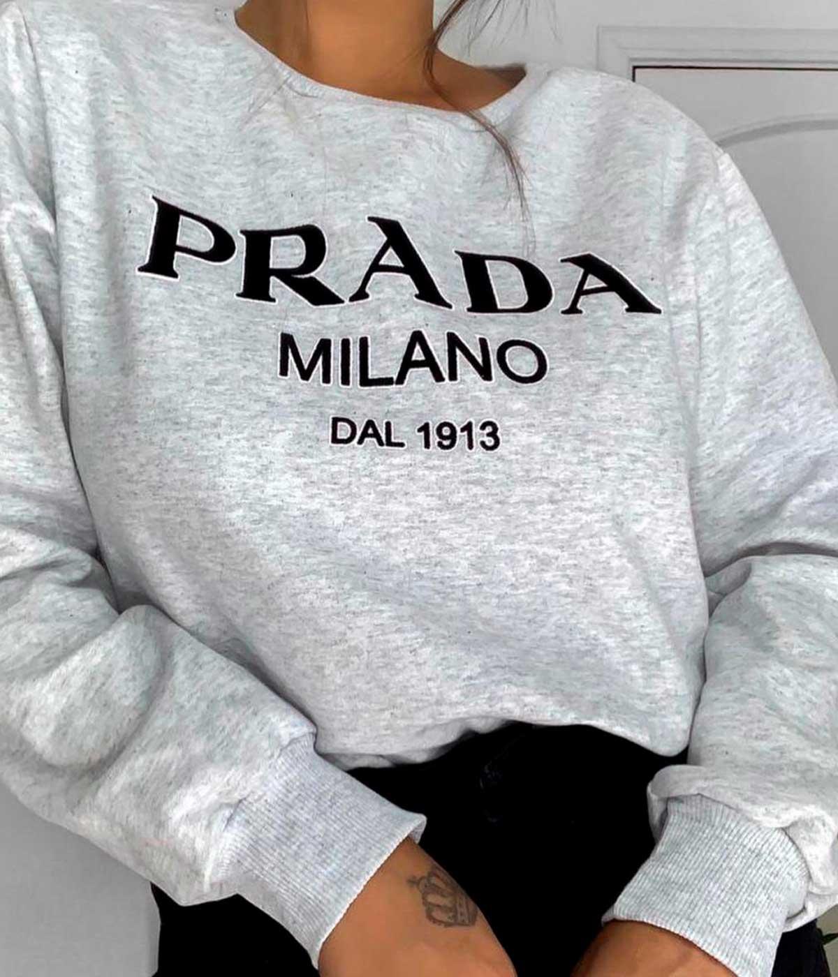 Moletom Nadia Cinza Mescla