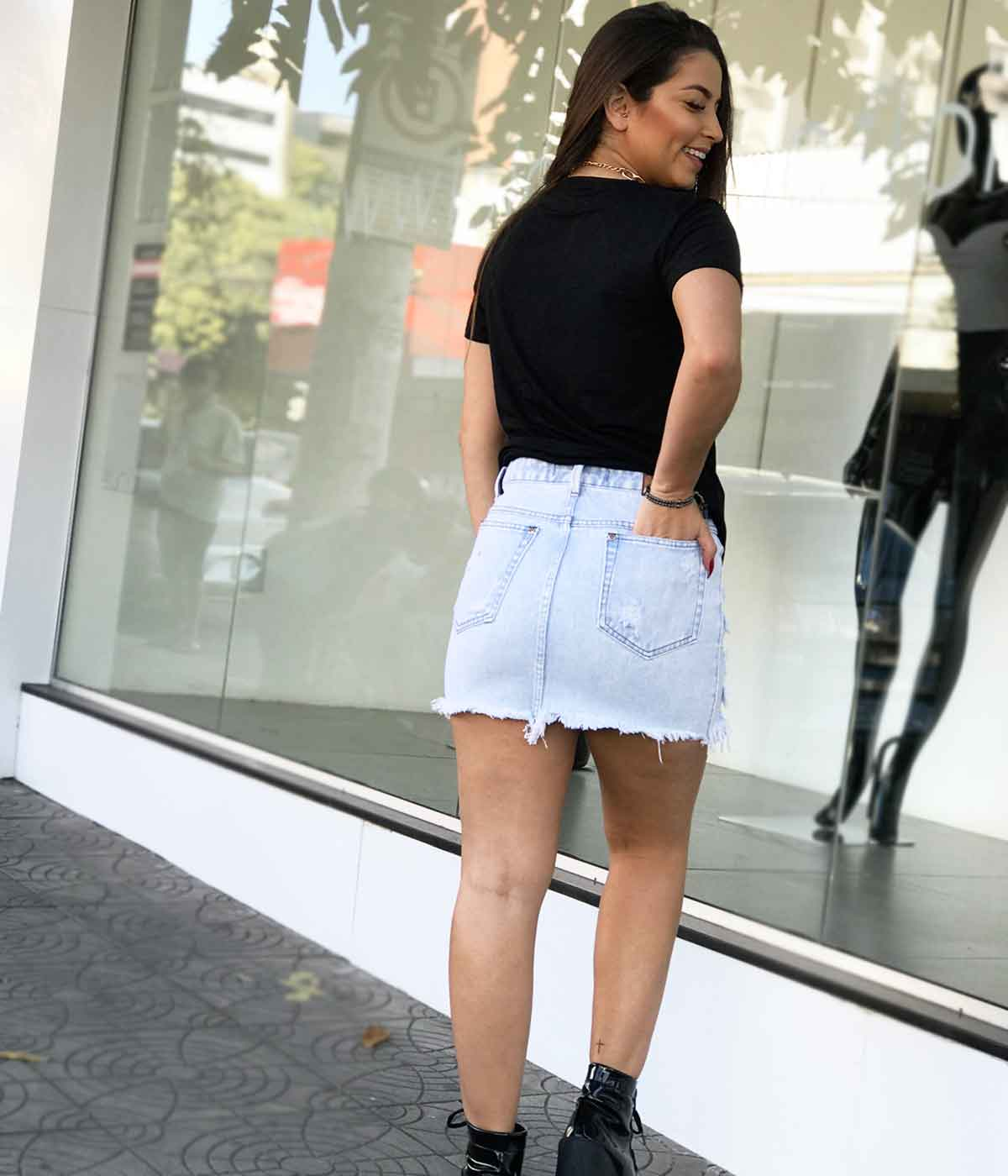 Saia Jeans Arielle