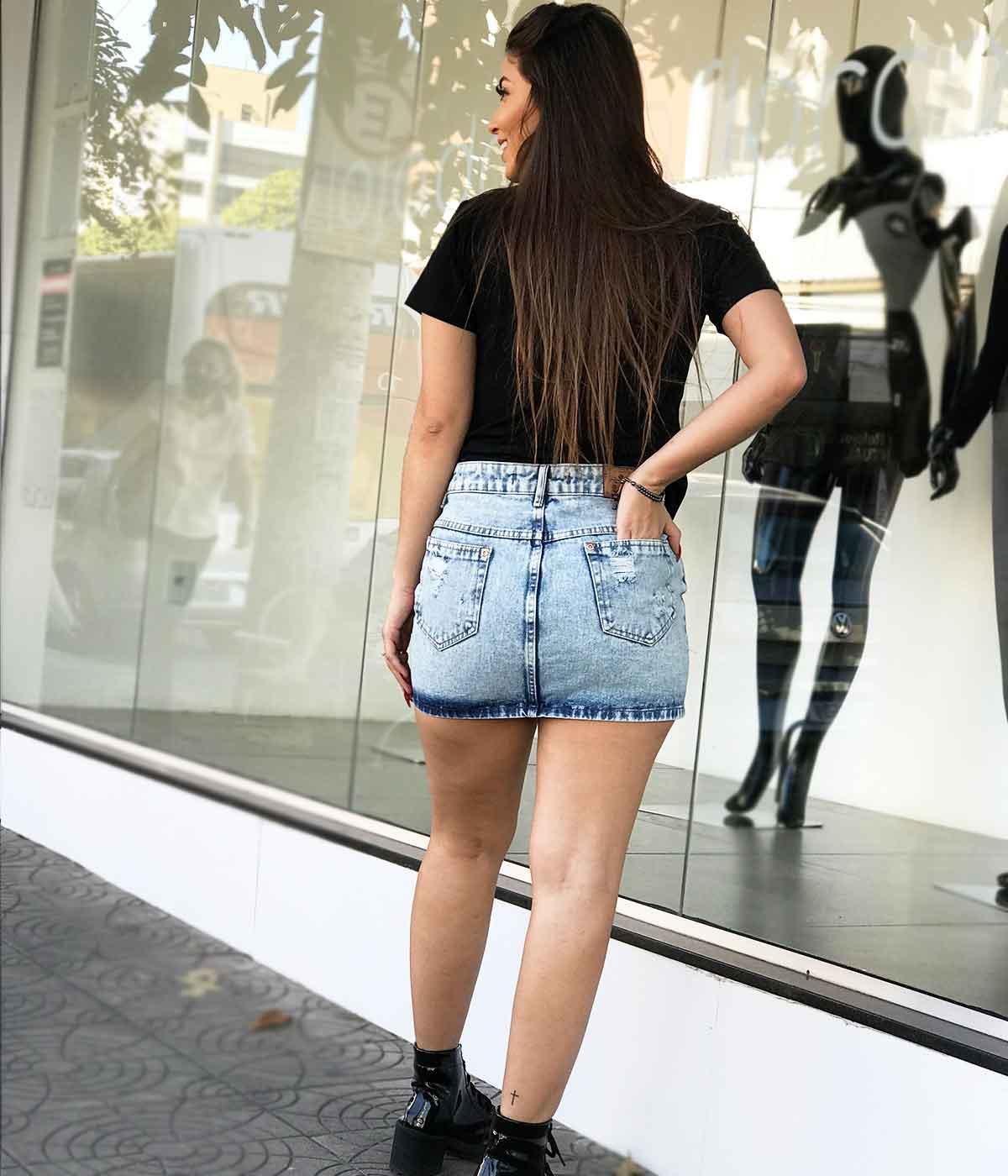 Saia Jeans Sofia