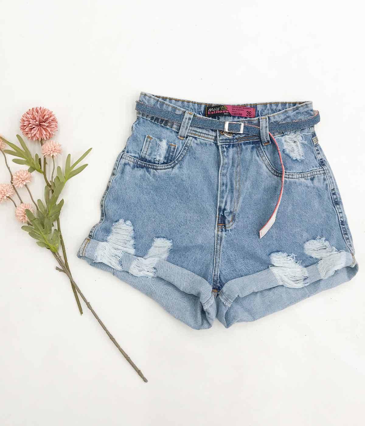 Short Jeans Barra Dobrada