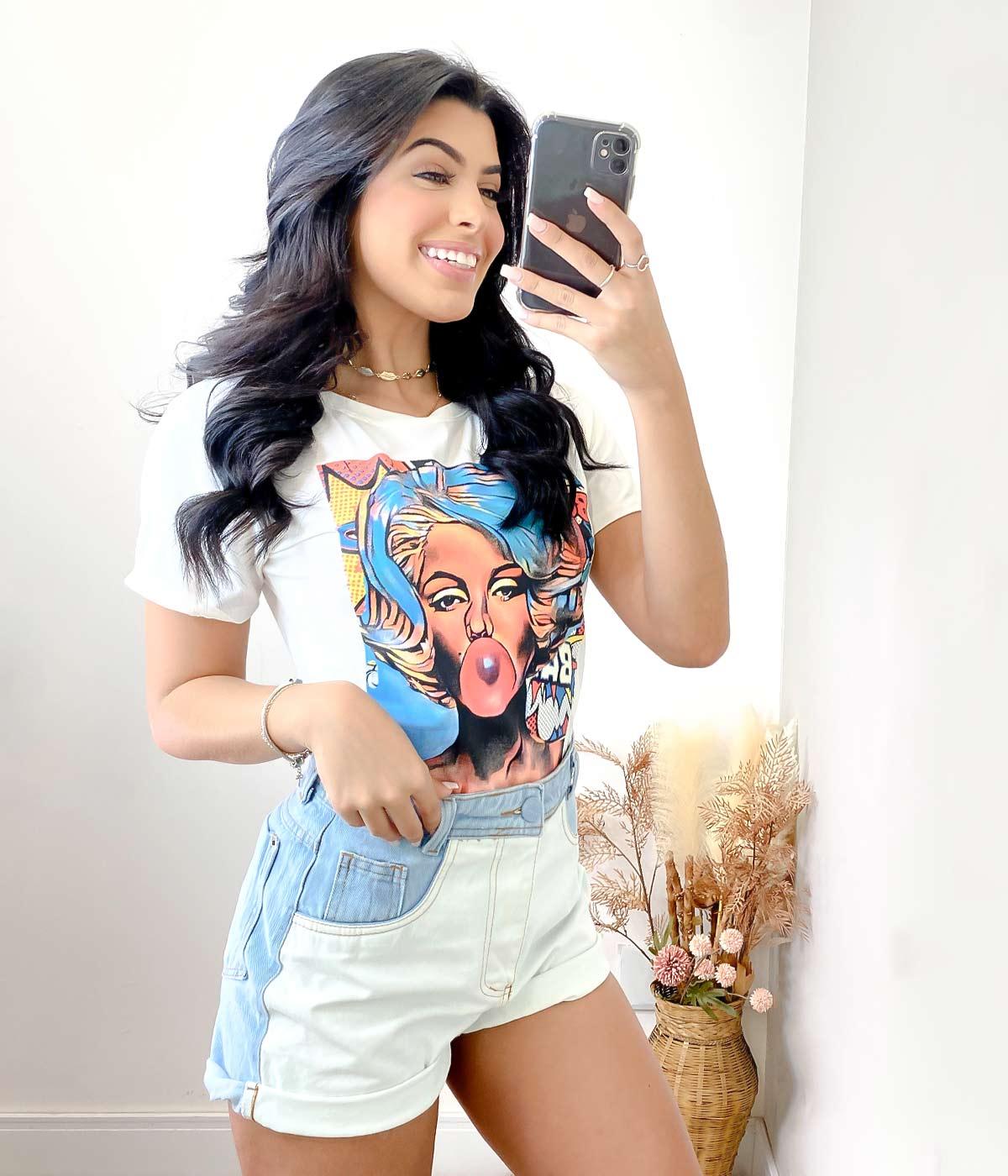 Short Jeans Bicolor Vanessa