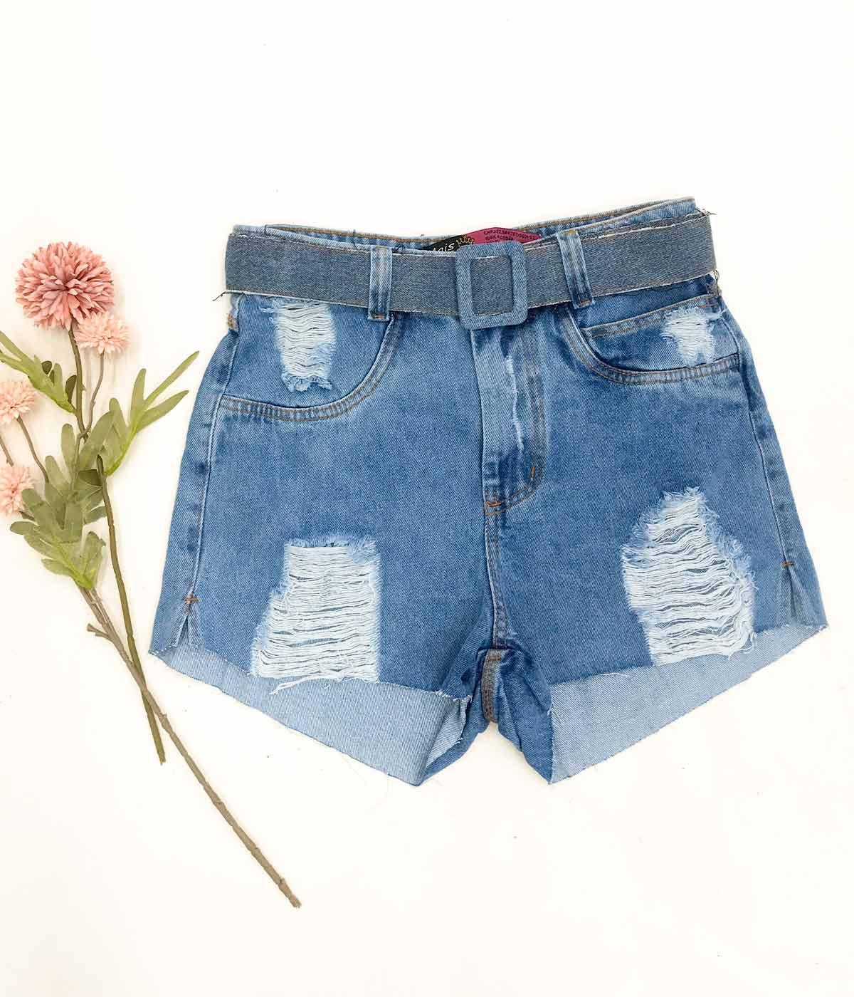 Short Jeans Cinto Encapado