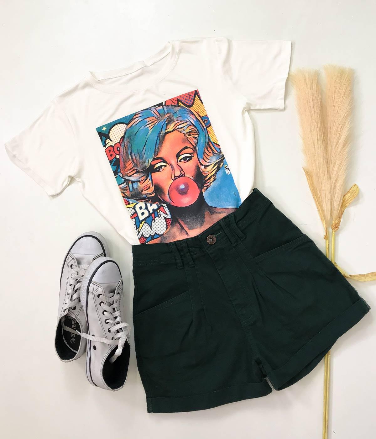 T-Shirt Garota Dos Quadrinhos Off White